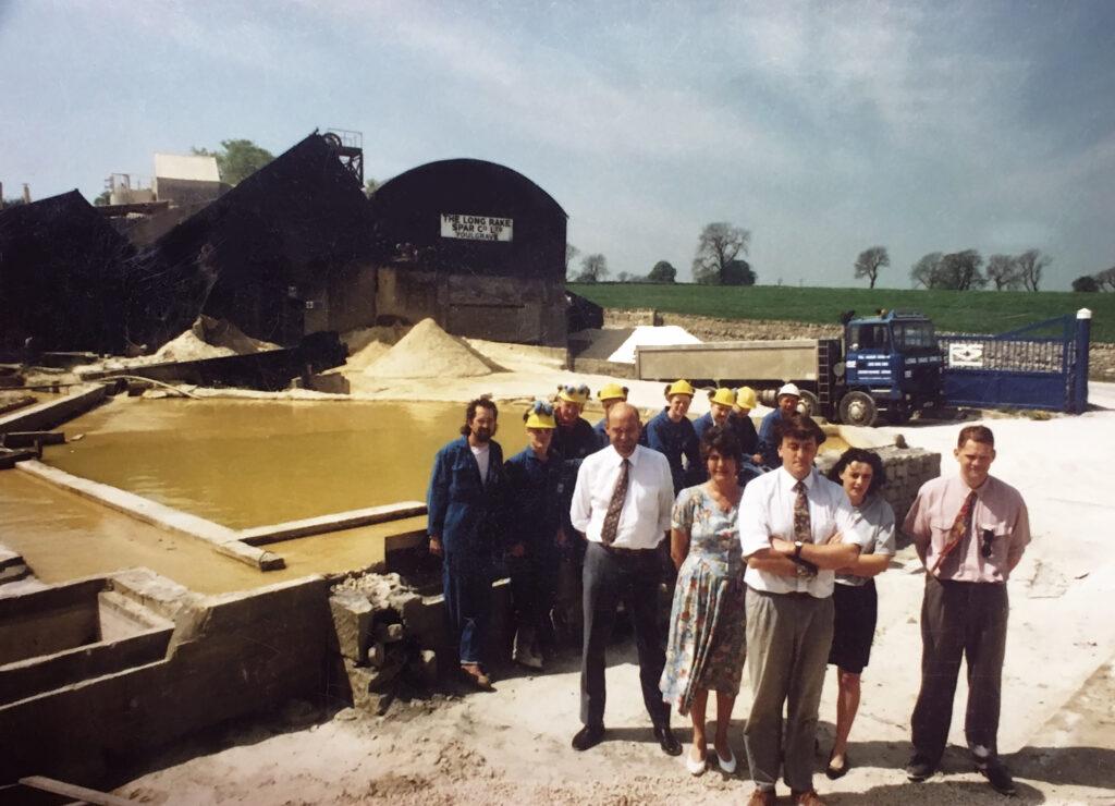 Managing Director Trevor Broadhurst when he took over Long Rake Spar in 1985